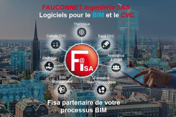 Fisa-BiM et Fisa-BiM CVC, des outils pour simplifier la gestion des maquettes numériques et un kit prêt à l'emploi pour le tracé CVC